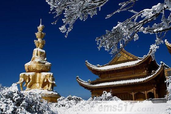 峨眉山冬景