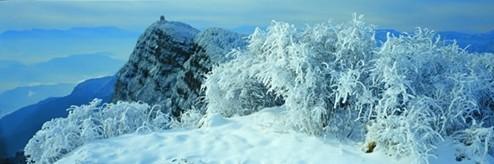 雪映万佛顶