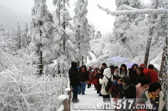 峨眉山虎年新春赏雪