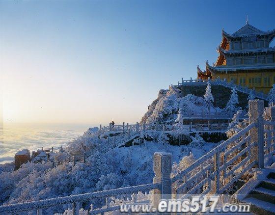 峨眉山金顶冬景