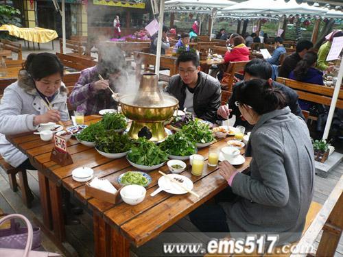 峨眉山,火锅,野菜,特色美食村