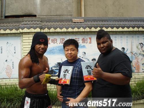 参加峨眉武术擂台赛的外国选手