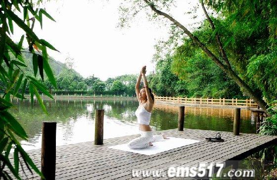 红珠山宾馆晨练瑜伽