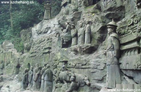 康熙南巡浮雕