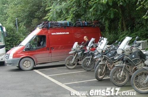 宝马摩托驾临红珠山宾馆
