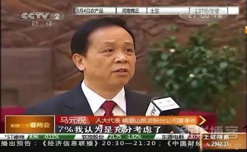人大代表马元祝接受央视财经频道记者采访
