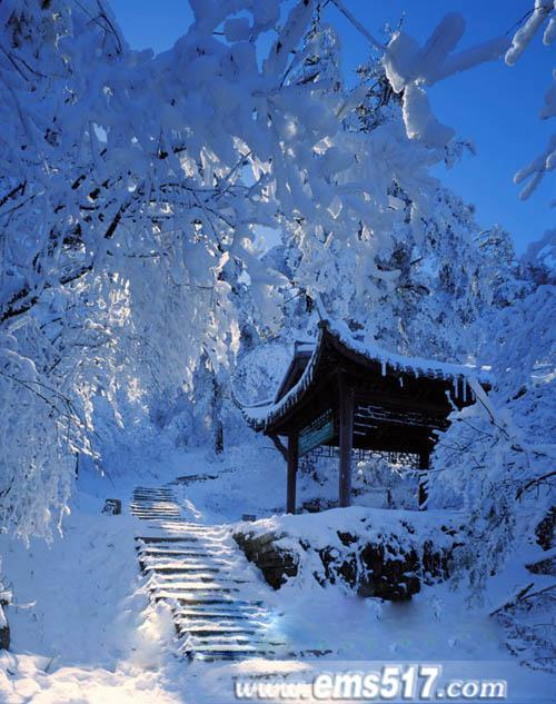 峨眉山冰雪