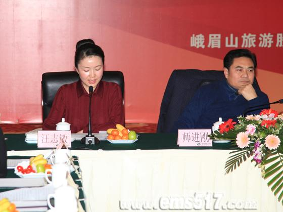 峨眉雪芽茶业分公司总经理汪志敏作2011年工作回顾暨2012年发展规划