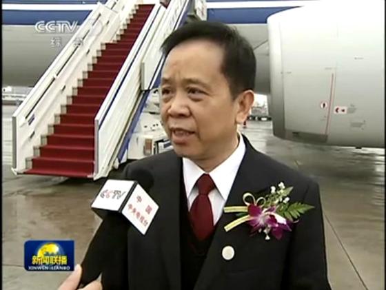 2012全国两会,马元祝人大代表接受央视记者采访