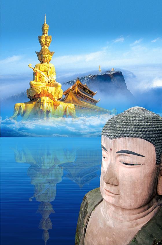 缤纷四月峨眉山花海佛国迎来泰国大型佛教朝拜团